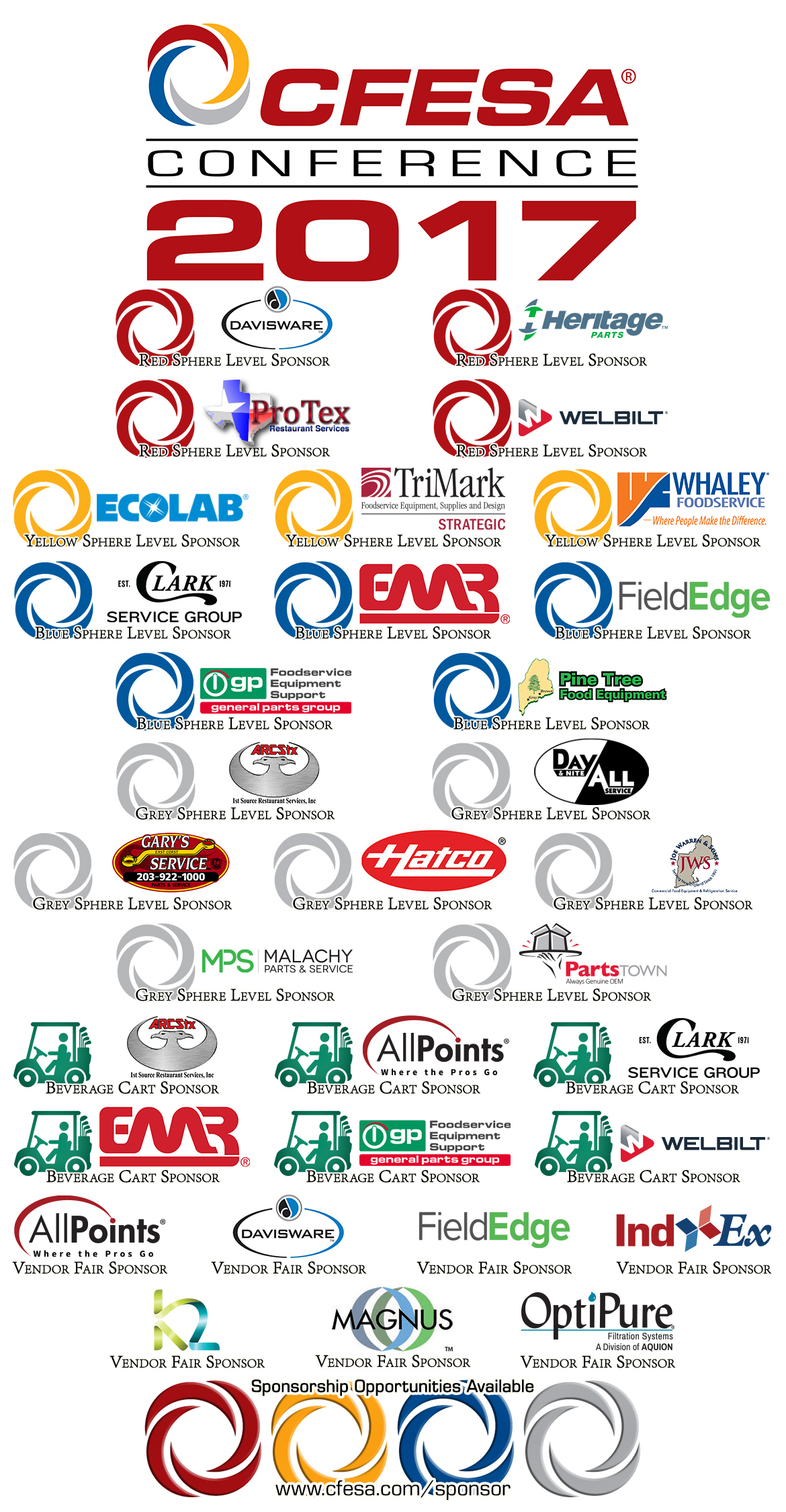 2017 CFESA Conference Sponsor list
