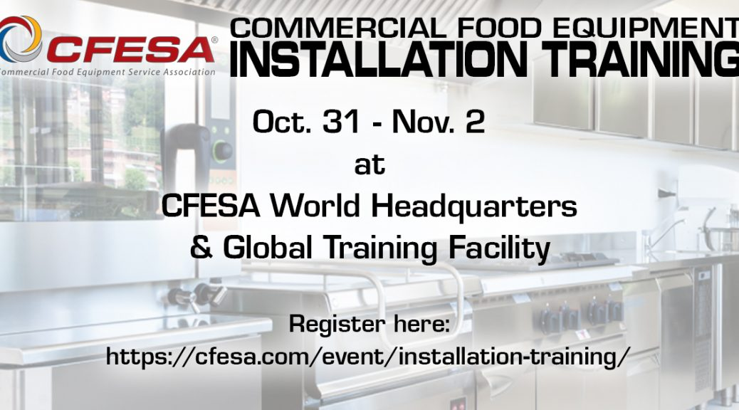 CFESA Commercial Food Equipment Installation Training