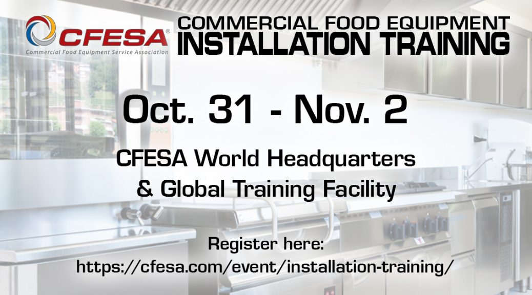 Commercial Food Equipment Installation Training Class