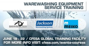 Warewashing Training @ CFESA World Headquarters & Global Training Facility | Fort Mill | South Carolina | United States