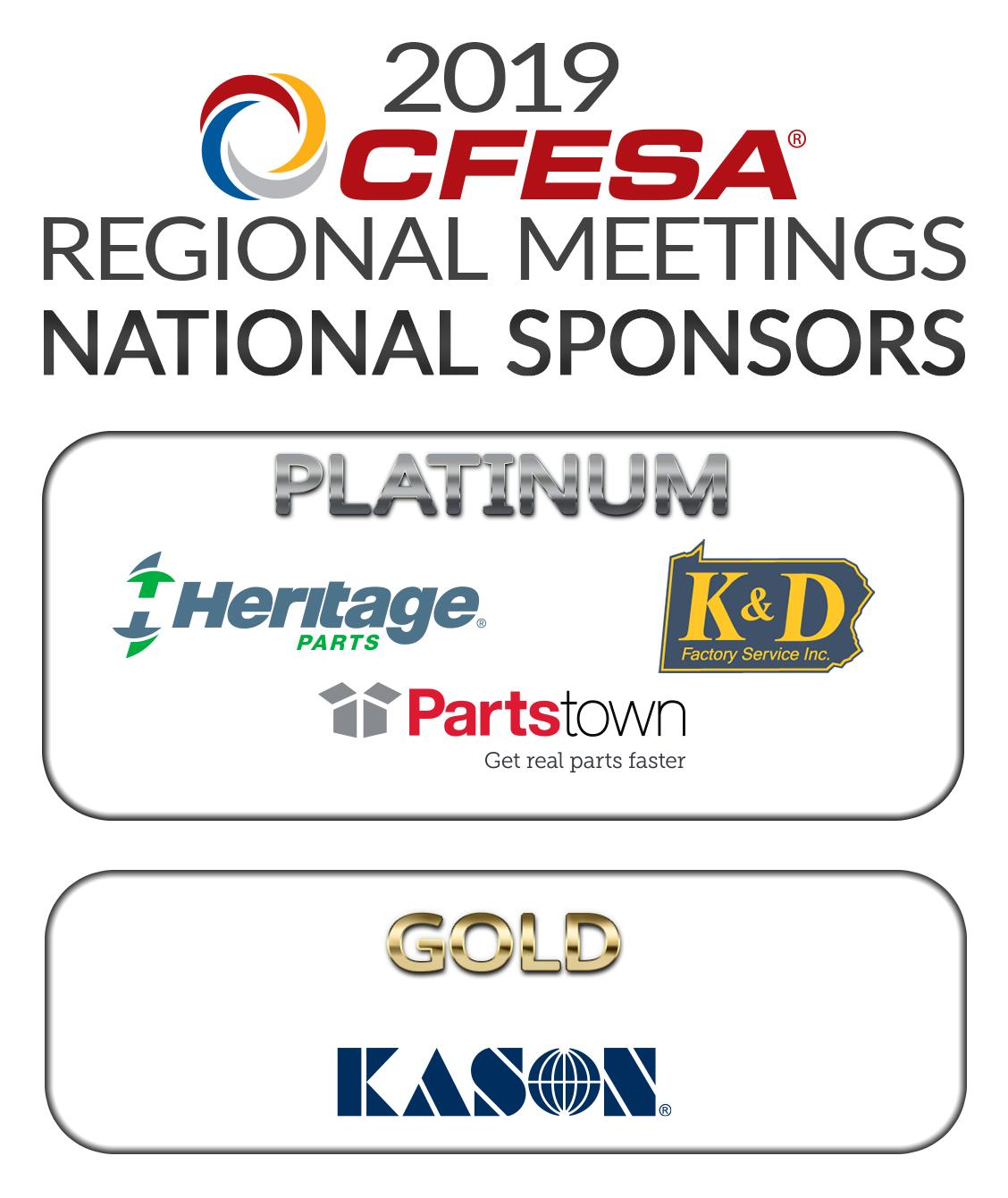2019 CFESA Regional Meeting National Sponsors