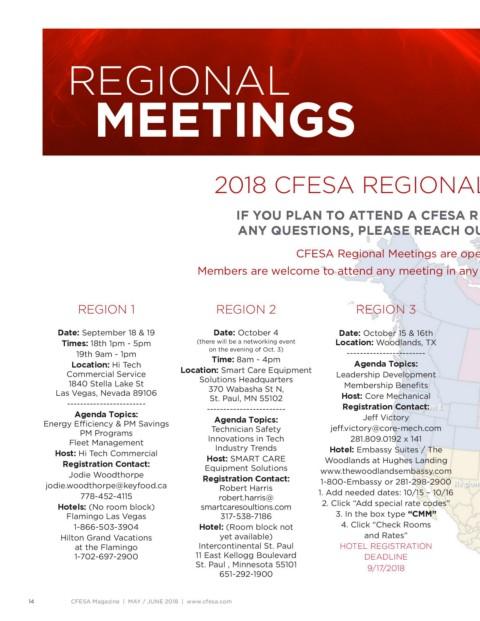 Page 14 - CFESA Magazine May / June 2018